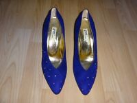 Glamorous purple suede court shoes size 39.5