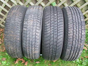2-195/70R14 & 2-185/75R14 M+S ALLSEASON TIRES CAN SELL IN PAIRS