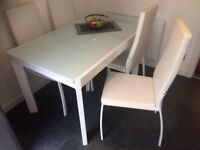 White Kitchen Table & 6 Chairs