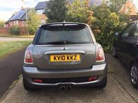 MINI COOPER S 1.6 HATCHBACK MANUAL METALLIC GREY WITH RED LEATHER INTERIOR