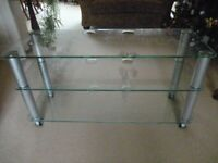 Large Glass TV Stand in Ex Cond