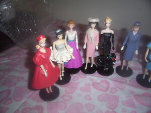 barbie figurine collectibles.Vintage Bird Jug And Glasses.