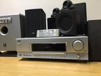 JVC 5.1 Surround Sound System 200W with 5 speakers and subwoofer