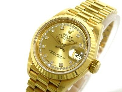 Auth ROLEX Datejust 69178G 18K Yellow Gold Women