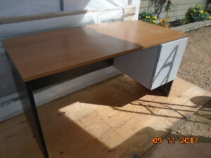 Desk; 3 drawer + side wing