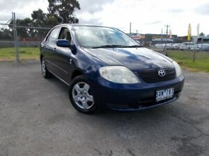2003 Toyota Corolla ZZE122R Ascent Blue 4 Speed Automatic Sedan Bayswater North Maroondah Area Preview