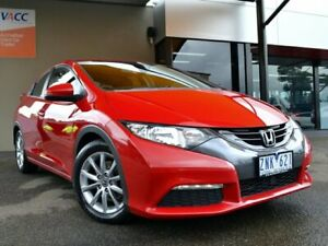 2012 Honda Civic 9th Gen VTi-S Red 5 Speed Sports Automatic Hatchback Fawkner Moreland Area Preview