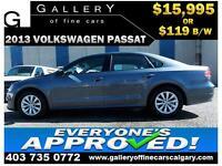2013 Volkswagen Passat 2.5L $119 bi-weekly APPLY NOW DRIVE NOW