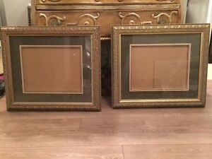 2 Gold accent picture frames