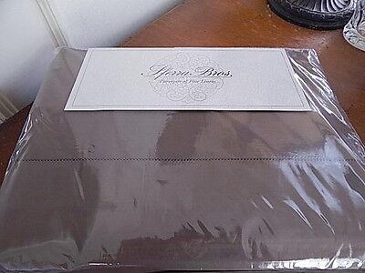 - Sferra CELESTE King Sheet Set Egyptian Cotton Percale CHESTNUT Brown ITALY -NEW!