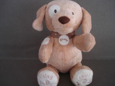 Baby Gund ABC 123 Interactive Singing Talking Puppy Dog Spunky