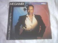 12in 45 Vinyl 45 Knock On Wood –Light My Fire Megamix / Jealousy – Amlii Stewart