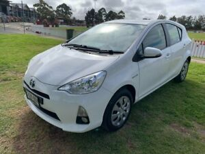 2014 Toyota Prius c NHP10R E-CVT White 1 Speed Constant Variable Hatchback Hybrid Prospect Prospect Area Preview