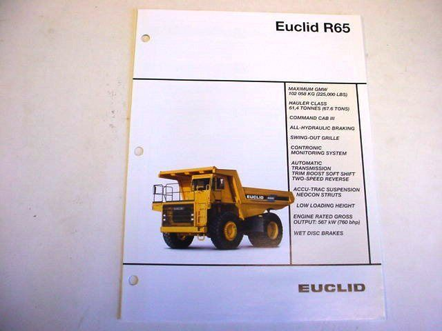 Euclid R65 Hauler Truck Literature