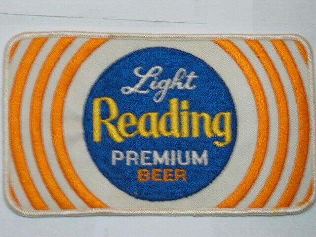 Light Reading Premium Beer Lg Jacket Patch Vintage