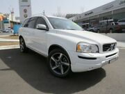 2012 Volvo XC90 P28 MY12 D5 Geartronic R-Design White 6 Speed Sports Automatic Wagon Wickham Newcastle Area Preview