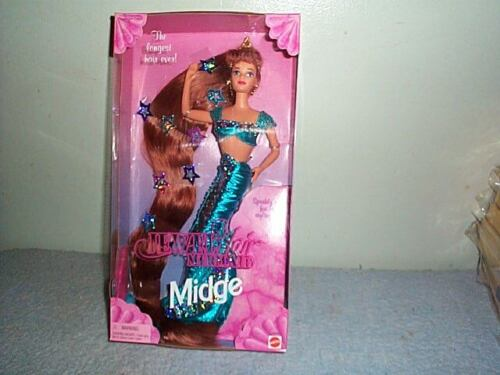 NEW Jewel Hair Mermaid Midge Barbie Doll 1995 Mattel 14589 Sealed Long Hair