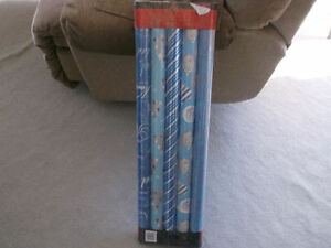 Christmas Wrapping 5 rolls unopened  heavy Paper