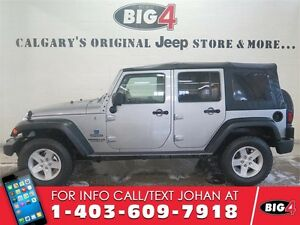 "2014 Jeep Wrangler Unlimited SPORT, A/C, 17"" alloys, soft top!"