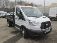 Ford Transit 350 L2 SINGLE CAB TIPPER 125PS EURO 5 DIESEL MANUAL WHITE (2016)