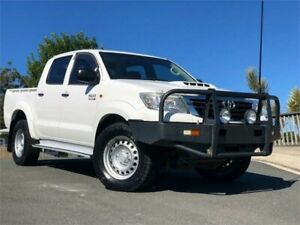 2012 Toyota Hilux KUN26R MY12 SR Double Cab White 4 Speed Automatic Utility Chevallum Maroochydore Area Preview