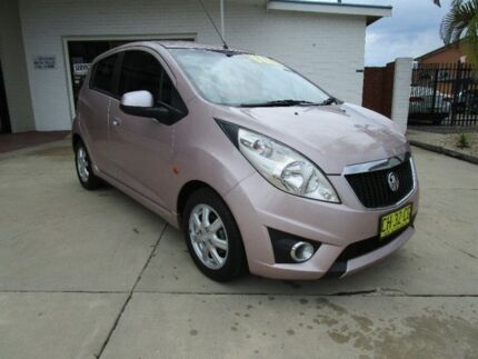 2010 Holden Barina Spark MJ MY11 CD Lilac 5 Speed Manual Hatchback Macksville Nambucca Area Preview