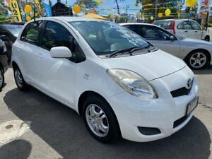 2010 Toyota Yaris NCP90R 10 Upgrade YR White 4 Speed Automatic Hatchback Morayfield Caboolture Area Preview
