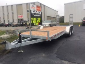 NEW 18' + 2' GALVANIZED EQUIPMENT HAULER
