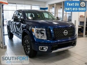 2018 Nissan Titan PRO-4X LEATHER|NAV|4x4|TONNEAU COVER|HEAT SEAT