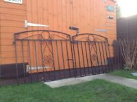 Heavy Duty Solid Steel Garden Gates Driveway Gates For Only £45 Total
