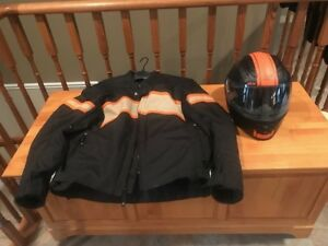 Men's Motorcycle Speed and Strength Helmet and Jacket