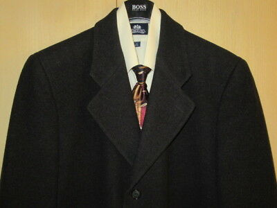 44R Bert Pulitzer Cashmere Blend Full Length Business Overcoat L-XL + Scarf