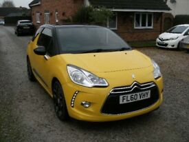 2010 CITROEN DS3 1.6 HDI 110 SPORT 6 SPEED YELLOW 12 MONTH M.O.T.