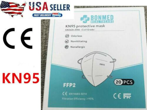 10 Pack K-N95 BONMED Face Mask Cover Folding Respirators Protective Masks KN95