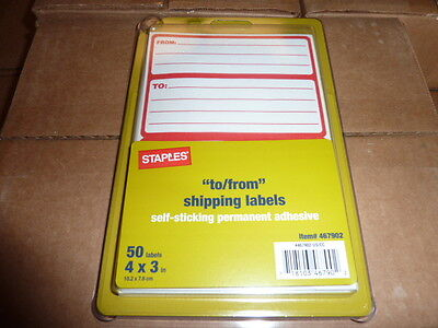 100 Pack Of Mailing Labels Self Adhesive Redwhite To From Tofrom 4 X 3