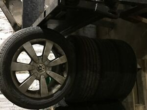 VW Jetta rims and tires London Ontario image 1