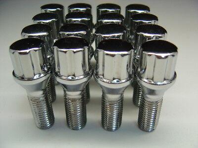 20 Pc BMW SPLINE Chrome Lug Bolts Nuts Set 12x1.5 (.86