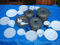 Complete Camping Cookset ( Pots, Pans kettle )