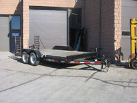 For Rent 18ft Flat Deck Trailer w/beaver tail