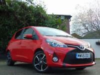 TOYOTA YARIS 1.3 VVT-I SPORT M-DRIVE S 5d AUTOMATIC (red) 2015