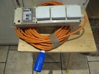 Camping hook up mobile consumer unit