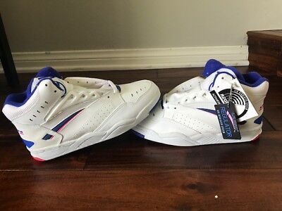 New LA Gear Court Regulator 3/4 Sz 9 NWT In Box Blue Coral  VINTAGE 1991 White for sale  Shipping to Canada