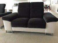 Matching sofas Charcoal Grey and Cream