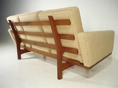 RARE Signed Original Hans Wegner Getama Teak Sofa 60's Mid Century Danish Modern