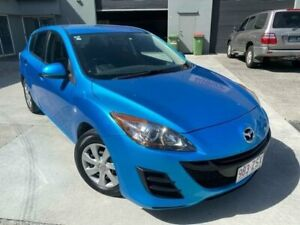 2010 Mazda 3 BL 10 Upgrade Neo Blue 5 Speed Automatic Hatchback Burleigh Heads Gold Coast South Preview