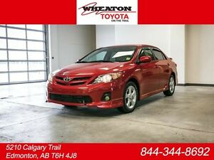 2013 Toyota Corolla S, 3M Hood, Remote Starter, Sunroof, Touch S
