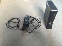 Xbox 360 Elite Black with 2 controllers, xbox headset and 1 game