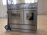 John Lewis Range Cooker JLRC902 with 5 gas rings and double electric oven