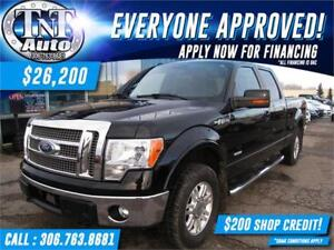 2011 Ford F-150 Lariat 4X4 HEATED LEATHER-SUNROOF-APPLY NOW!