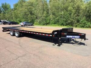 "NEW 2019 SURE-TRAC 102"" x 25' DECK-OVER TRAILER (10 TON)"